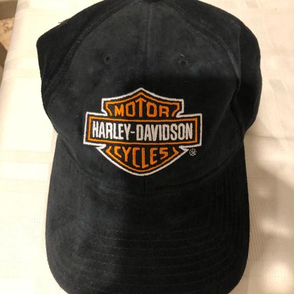 98e19288b4d5e Harley Davidson NWOT Antique Suede Leather Cap